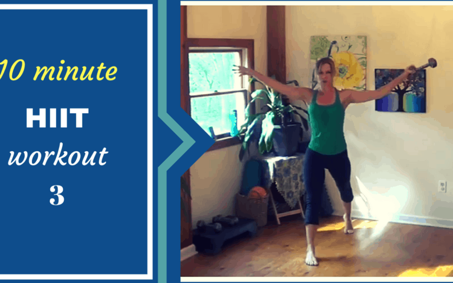 10 minute HIIT workout for busy women- wk 3 – targets shoulders & legs