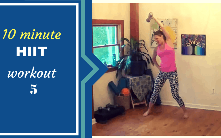 10 minute HIIT workout for busy women- wk 5 – targets core