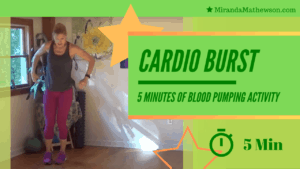 5 Minute Cardio Blast! Get your heart rate up - no excuses!