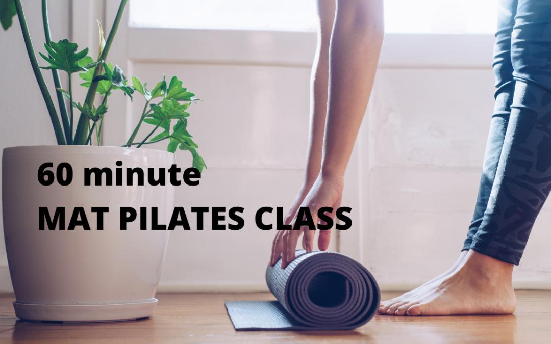 60 Minute Mat Pilates Class
